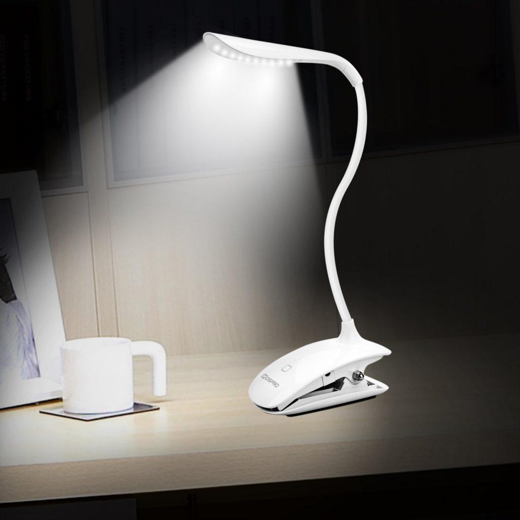 DEL Lampe de Bureau avec rangement pot de Lumière Naturelle Effet Souple Fonctionne sur secteur