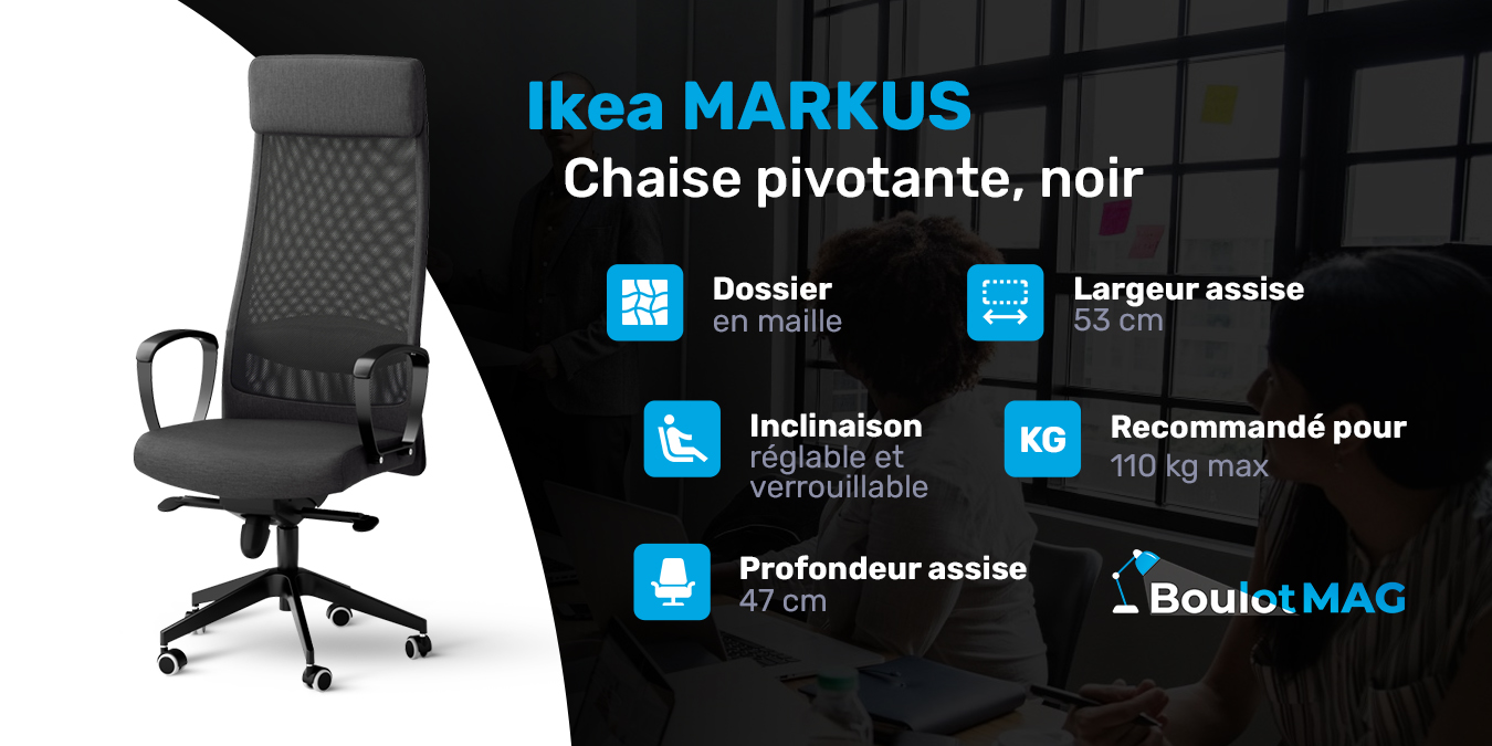 Chaise De Bureau Ikea Markus Avis Tests Et Prix En Dec 2020